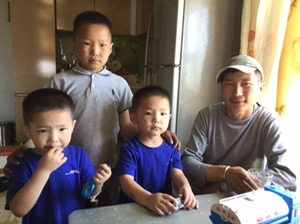 Our driver and his boys, Mongolia
